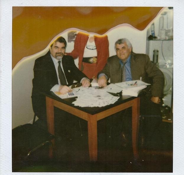 Architetto Giuseppe con Ing. Brots - Fiera di Milano 2002