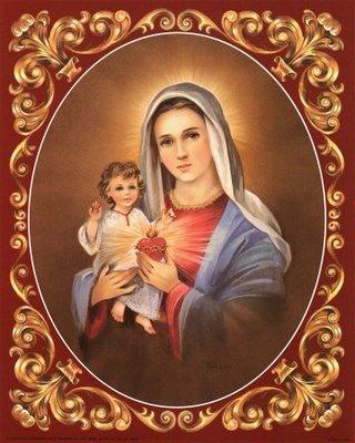 La fiamma del Tuo Cuore, o Maria, scenda su tutti gli uomini