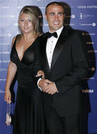 Fabio Cannavaro con la moglie -