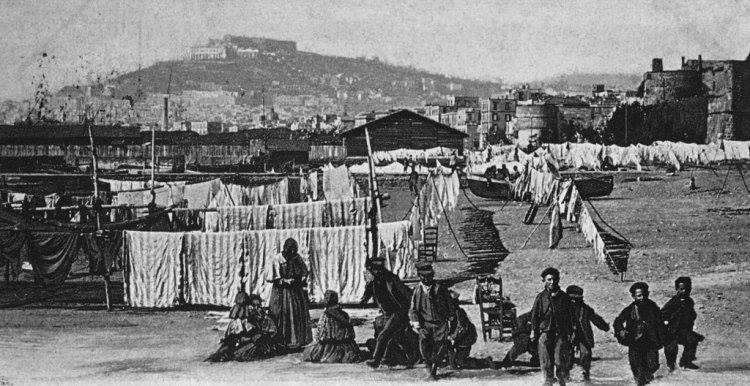 Napoli Antica: Alla spiaggia del Carmine, inizio '900