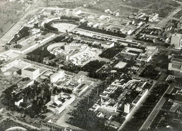 Napoli: Mostra d'oltremare dall'alto, anni '30