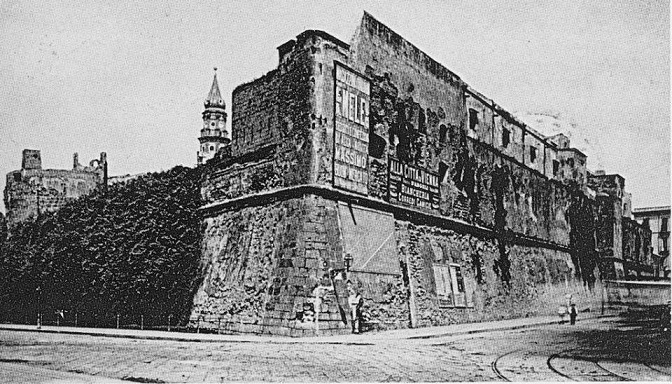 Napoli - Il castello del Carmine 1860