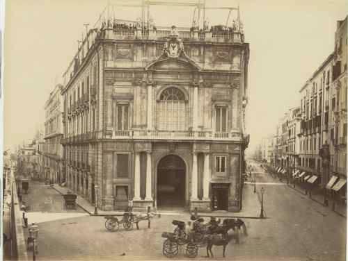 Napoli - La via Toledo e il Palazzo Doria d'Angri, 1860