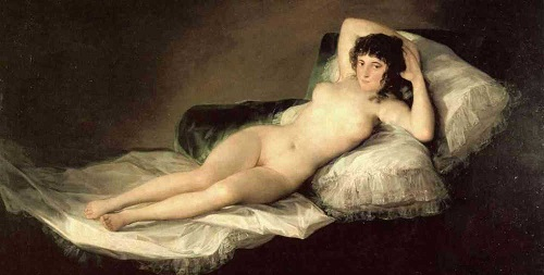 Maja Desnuda, di Francisco Goya (1800)
