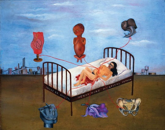 Ospedale Henry Ford (Letto volante), di Frida Kahlo (1932)