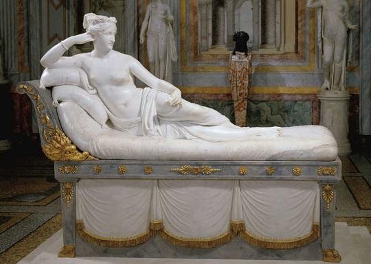 Paolina Borghese come Venere vincitrice, di Antonio Canova (1808)