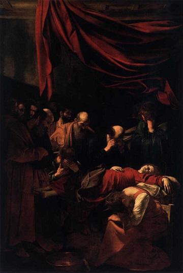 Morte della Vergine, di Michelangelo Merisi da Caravaggio (1604)