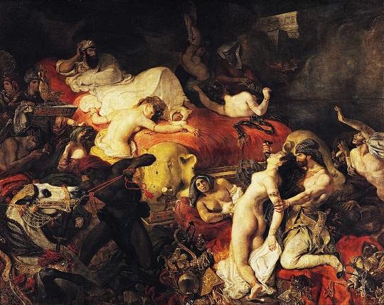 Morte di Sardanapalo, di Eugène Delacroix (1827)
