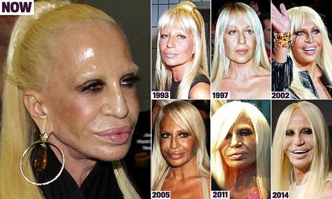 Donatella Versace, venti anni per diventare horror puro...