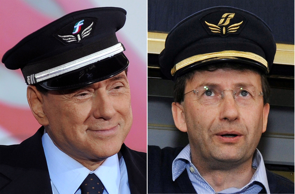 Berlusconi e Franceschini nella versione 'Ferrovieri' -