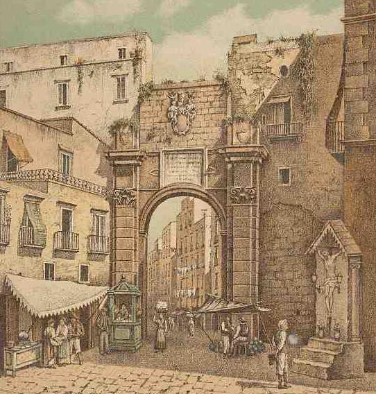 Nei pressi dell' attuale piazza Montesanto, nel 1640, il vicerè Duca di Medina fece costruire...